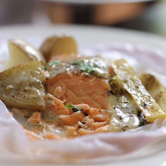 Photo of Baked Salmon in Parchment Paper  by Soma Pradhan at BetterButter