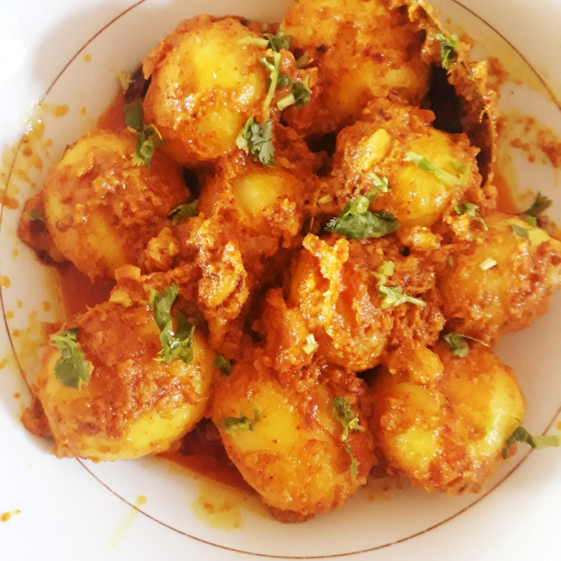 How to make Niramish aloor dom( veg dum aloo without onion n garlic)