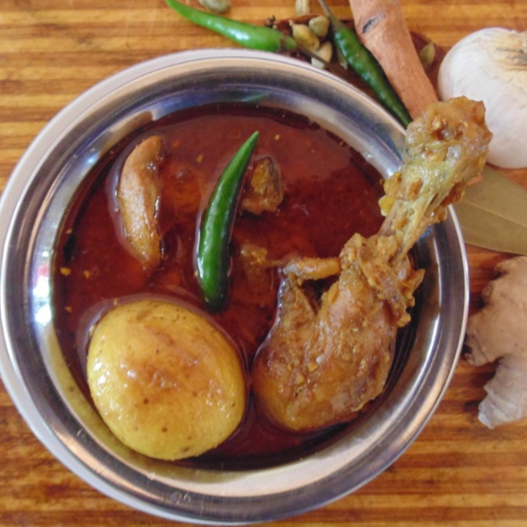 How to make Simple chicken curry with baby potatoes
