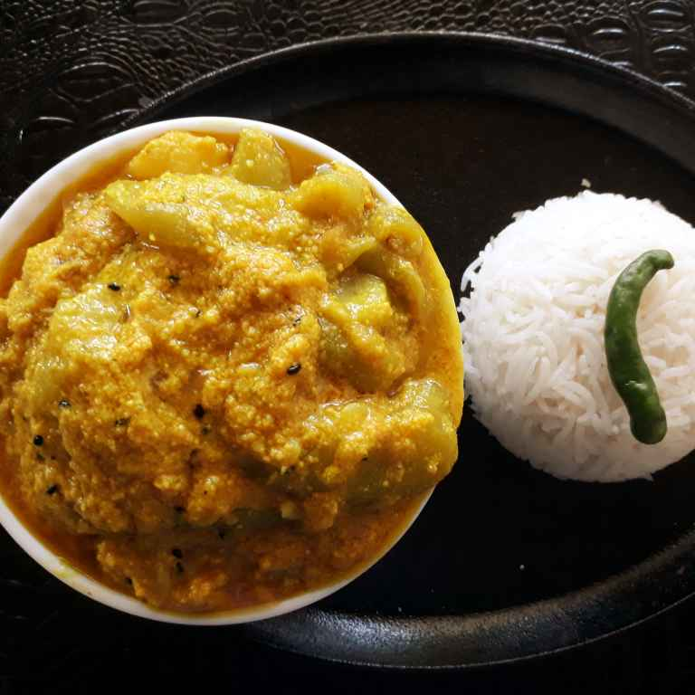 How to make Jhinge aloo posto ( ridge gourd , potatoes with poppy seeds)