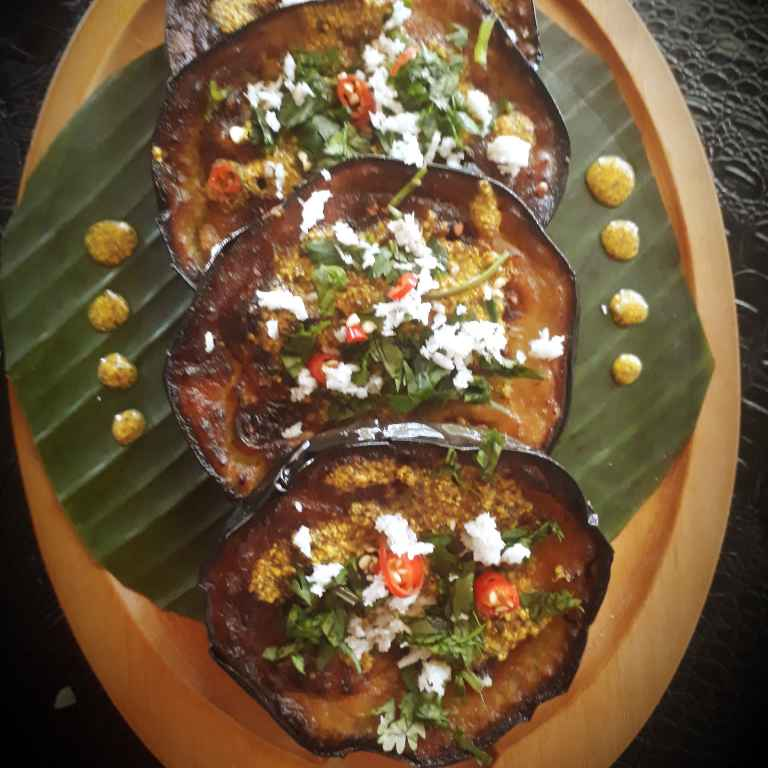 How to make Begun basanti ( eggplant with mustard paste)
