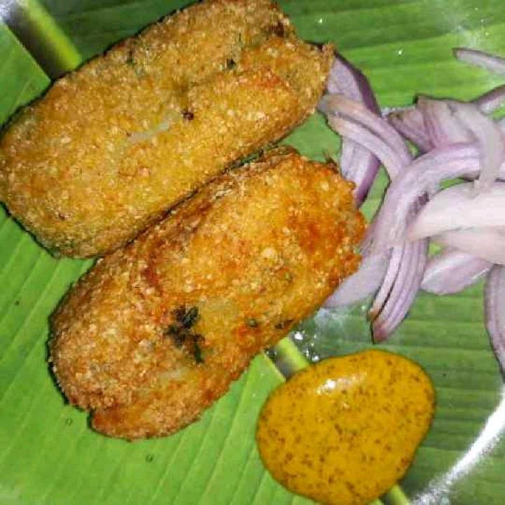 How to make Fish chop street food from West Bengal