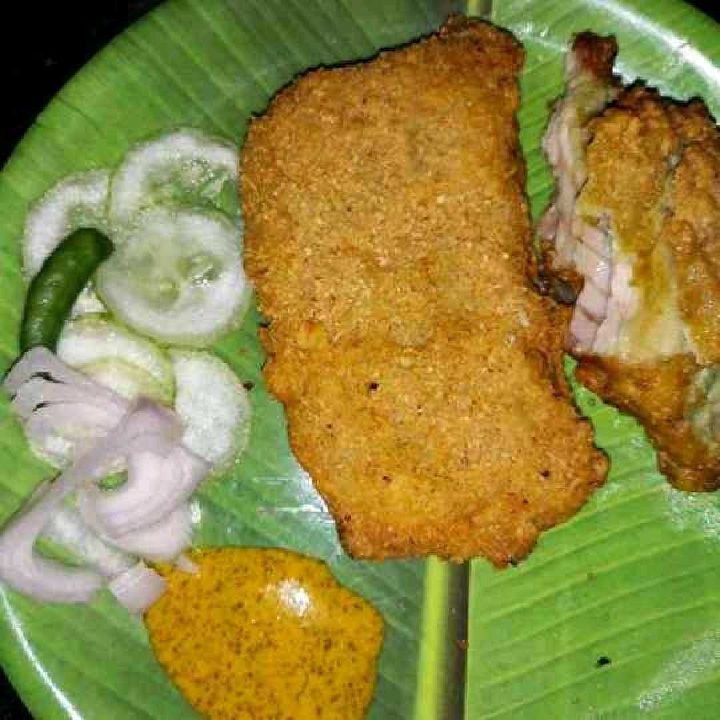 How to make Fish fry a famous street food from Kolkata