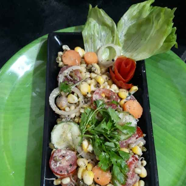 Photo of Sweetcorn moong sprouts salad by Soma Mukherjee at BetterButter