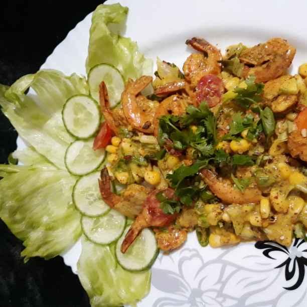 Photo of Sweet corn prawn salad by Soma Mukherjee at BetterButter