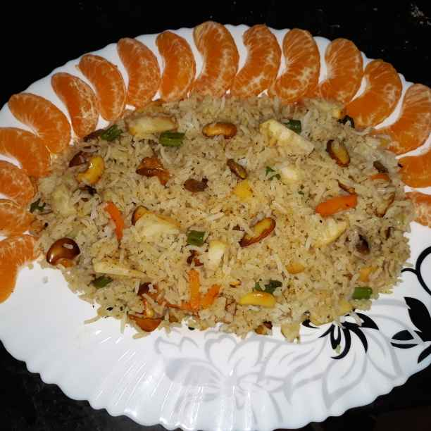 Photo of Dry & fresh fruit -vegetable mix pilaf by Soma Mukherjee at BetterButter