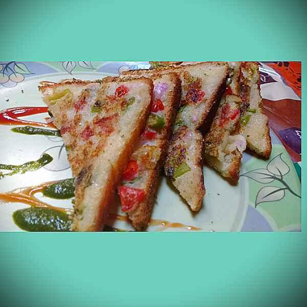 How to make Rava Veggie Toast