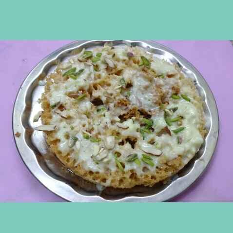 How to make मलाई घेवर