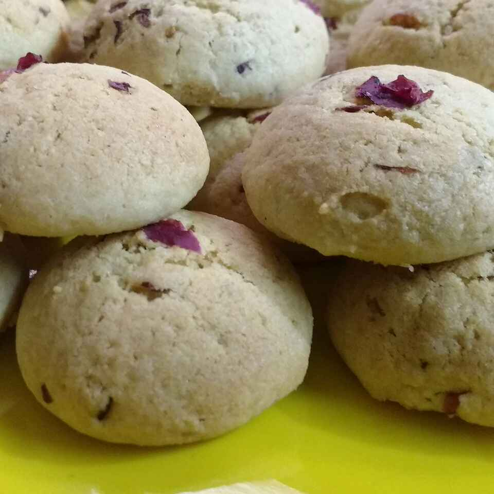 Photo of rose cookies by Somya Gupta at BetterButter
