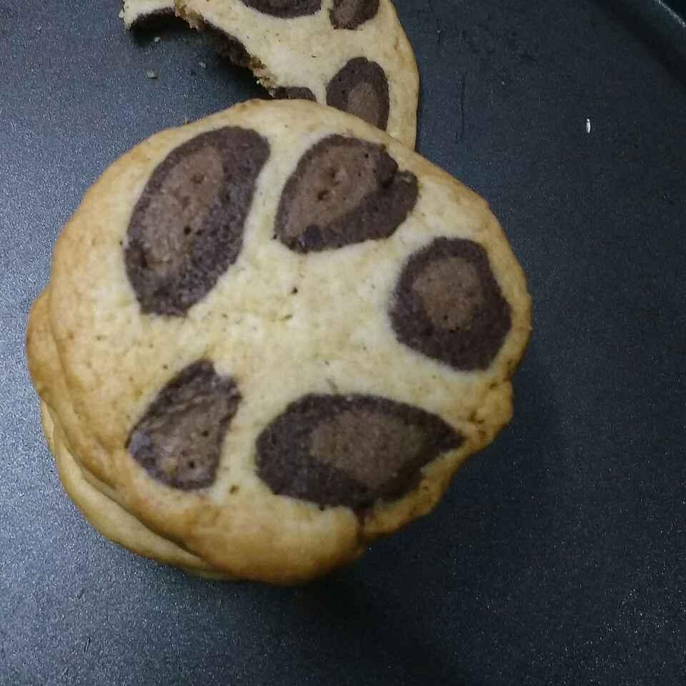 Photo of Leopard print malai cookies by Somya Gupta at BetterButter