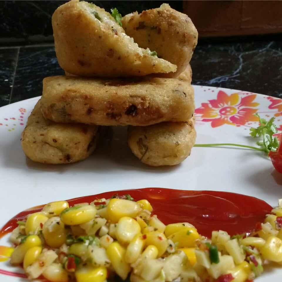Photo of Stuffed cheesey multi grain croquettes by Somya Gupta at BetterButter
