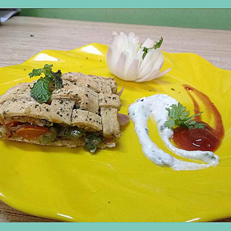 Photo of Multigrian baked pizza paratha by Somya Gupta at BetterButter