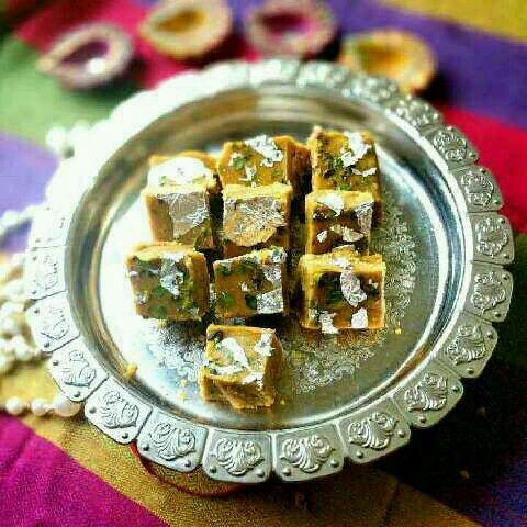 How to make Besan Mava Barfi