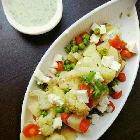 How to make Steamed Veggies with Curd Dip