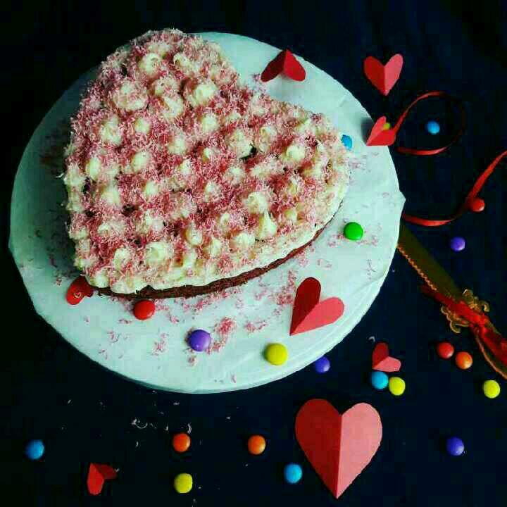 How to make एगलेस नो बेक रेड वेलवेट केक