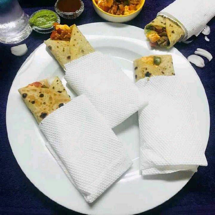 How to make Schezwan Paneer Roti  Rolls