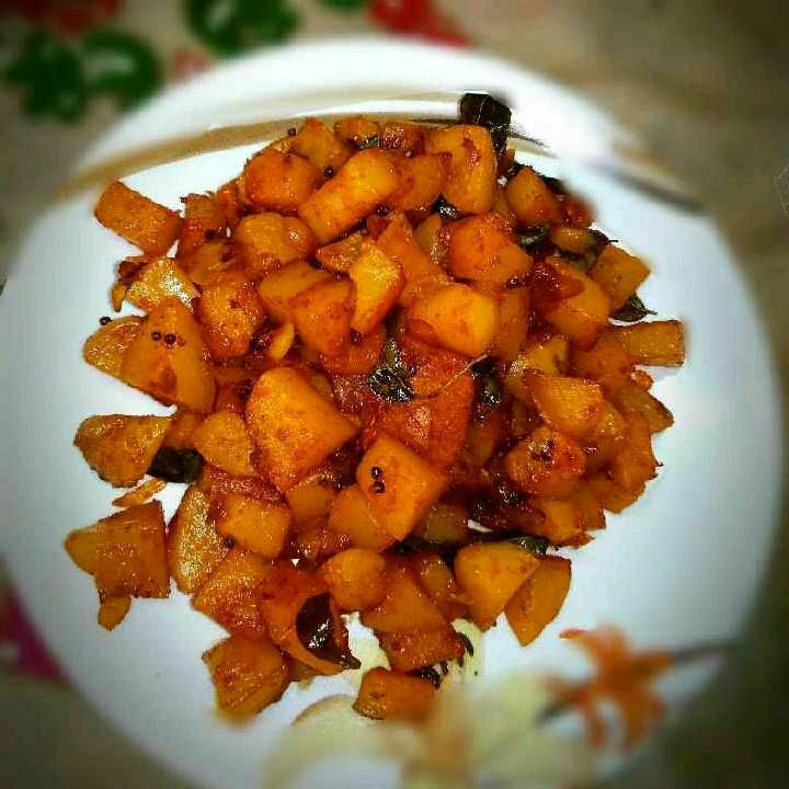 Photo of Spicy Aloo Fry by Rabia Hamnah at BetterButter