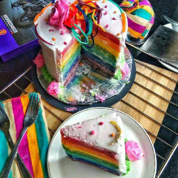 How to make Homemade Rainbow Cake