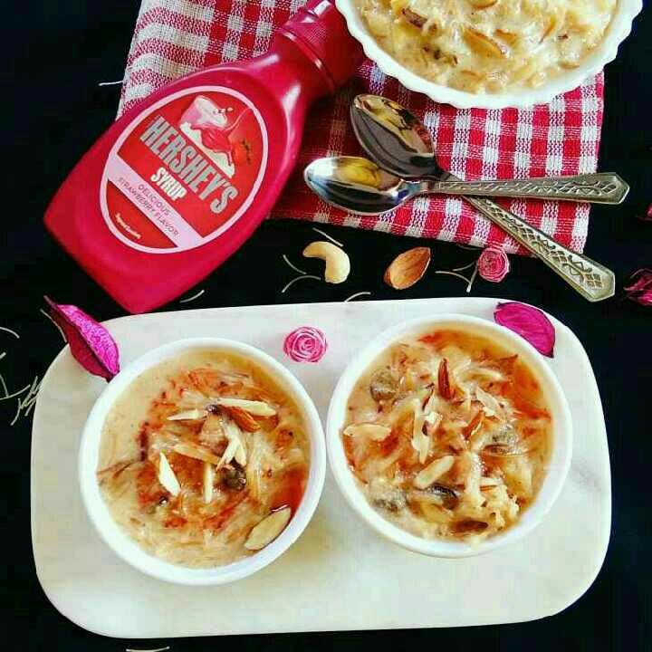 How to make Hersheys Strawberry Flavoured Vermicelli Kheer