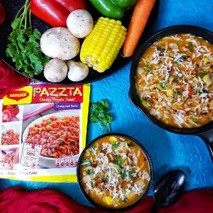 How to make Maggi Pazzta Mushroom Soup