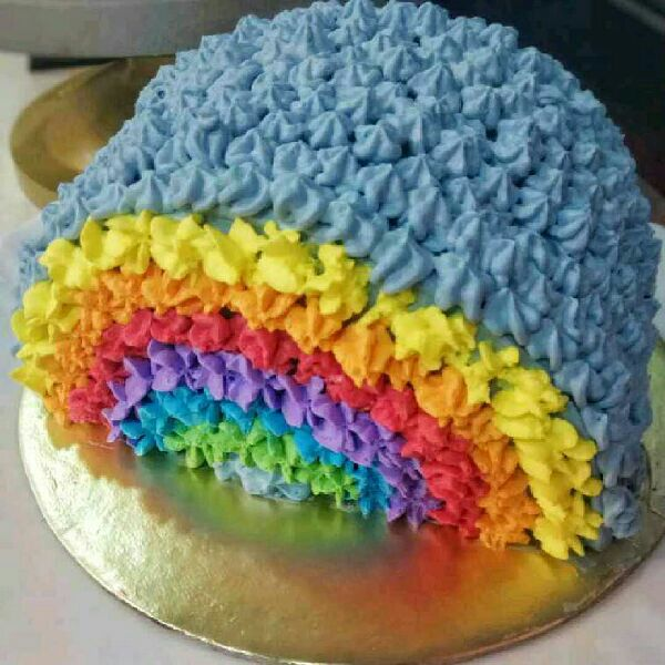 How to make Rainbow Cake with a Surprise Twist