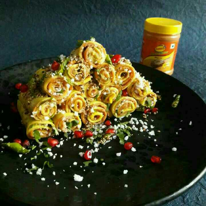 How to make Sundrop Peanut Butter Khandvi