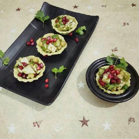 How to make Spinach Basket Chaat
