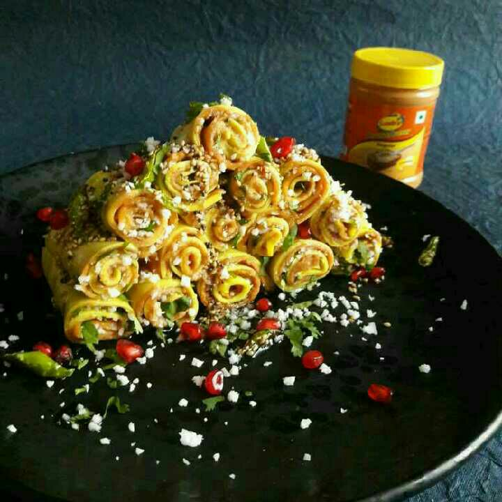 How to make Sundrop Peanut Butter Khandvi