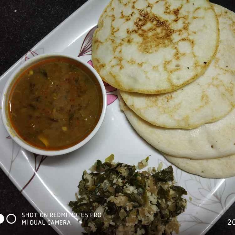 Photo of Aamboli,kalawatana sambhar,sheglachi bhaji. by Sonali Belose-Kayandekar at BetterButter