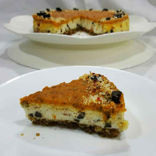 Photo of Eggless baked savoury cheesecake by Sonali Mhatre at BetterButter