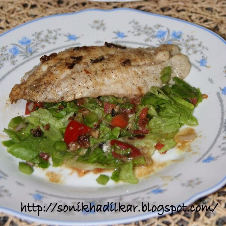 How to make Grilled hammour with salad
