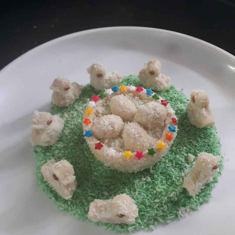 How to make Cashew and Coconut ducklings