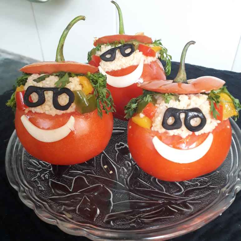 Photo of couscous salad in tomato cups by Sonia Kriplani at BetterButter