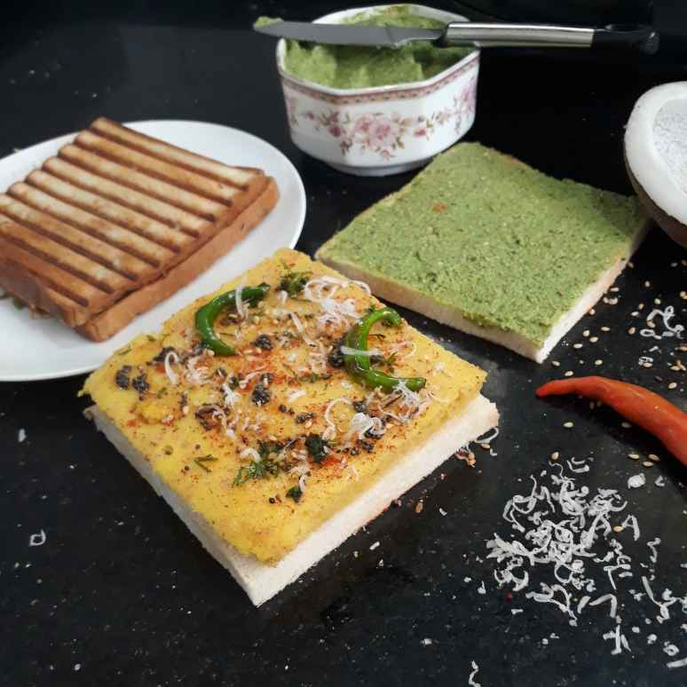 Photo of Dhokla bread sandwich by Sonia Kriplani at BetterButter