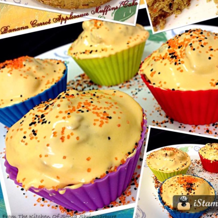 Photo of Banana Carrot Applesauce Muffins by Sonia Shringarpure at BetterButter