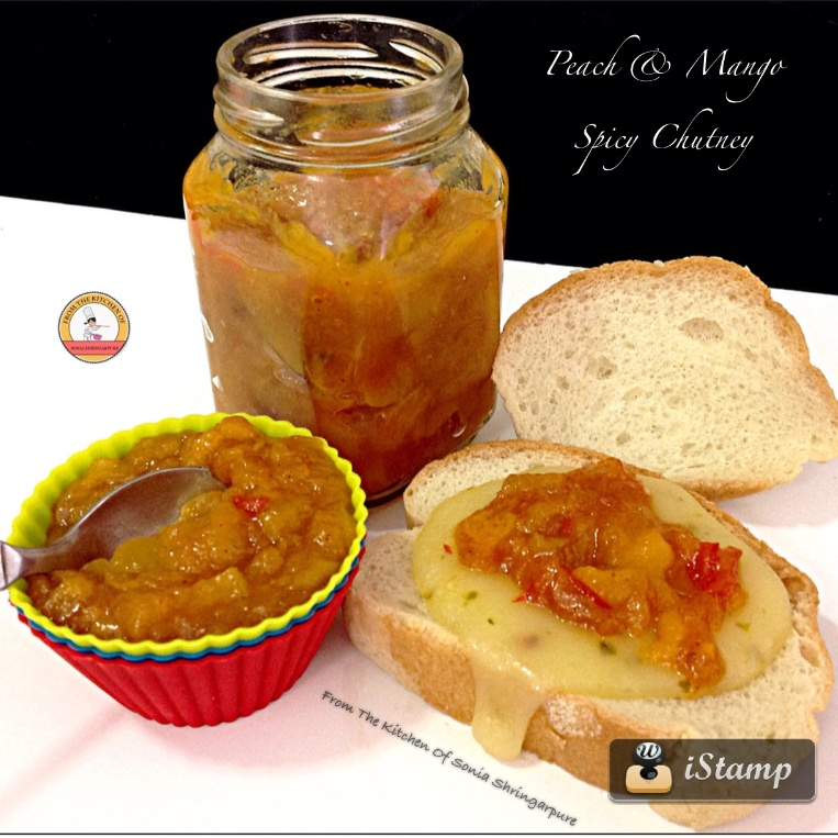 Photo of Peach & Mango Spicy Chutney by Sonia Shringarpure at BetterButter