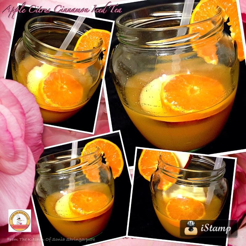 Photo of Apple Citrus Cinnamon Iced Tea by Sonia Shringarpure at BetterButter