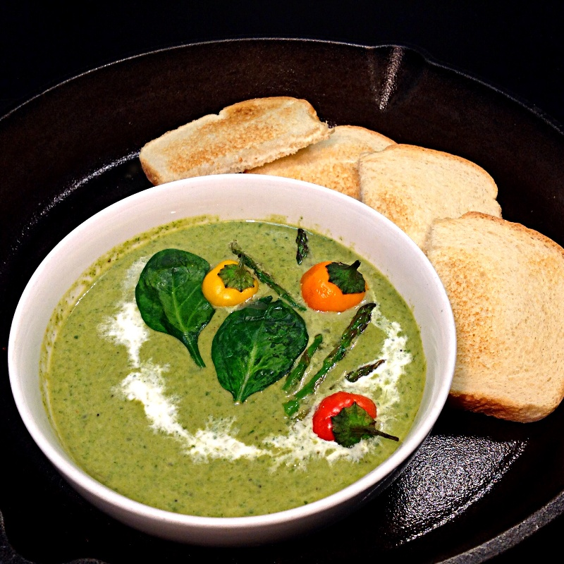 How to make Cream of Asparagus & Spinach Soup