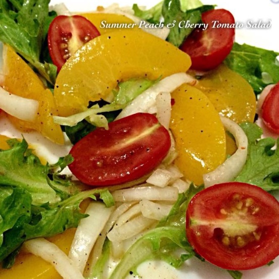How to make Summer Peach & Cherry Tomato Salad