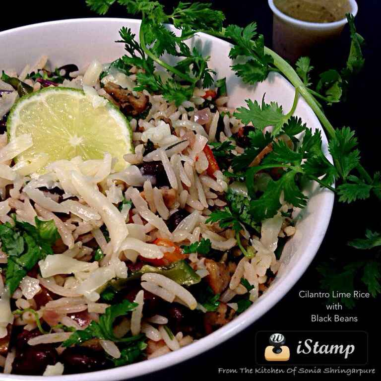 How to make Cilantro Lime Rice with Black Beans
