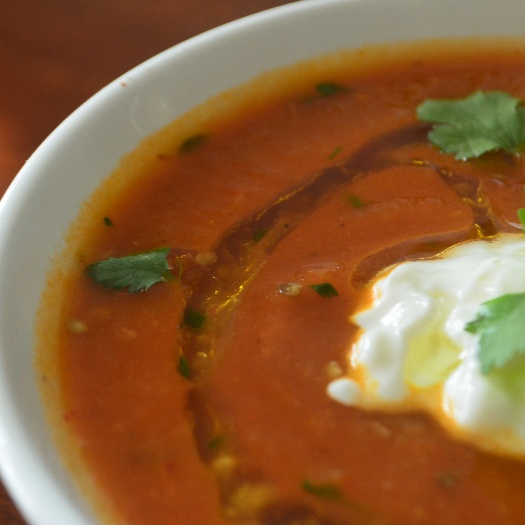 Photo of Roasted eggplant & Tomato soup by Soniya Saluja at BetterButter