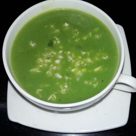 How to make Peas and Spinach Soup with Mushroom