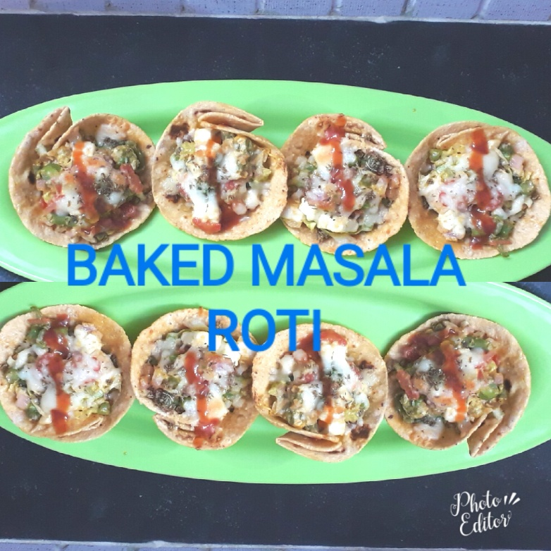 How to make Baked masala Roti