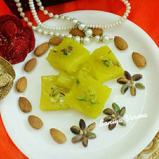 Photo of Pineapple karachi halwa by Soniya Verma at BetterButter