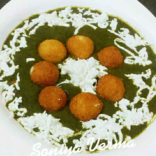 How to make Cheese cofta in spinach gravy