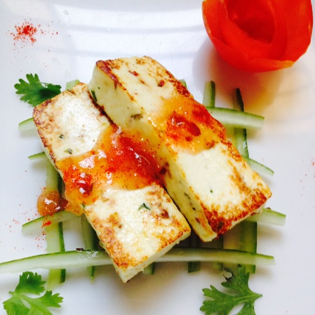 How to make Pan seared masala paneer