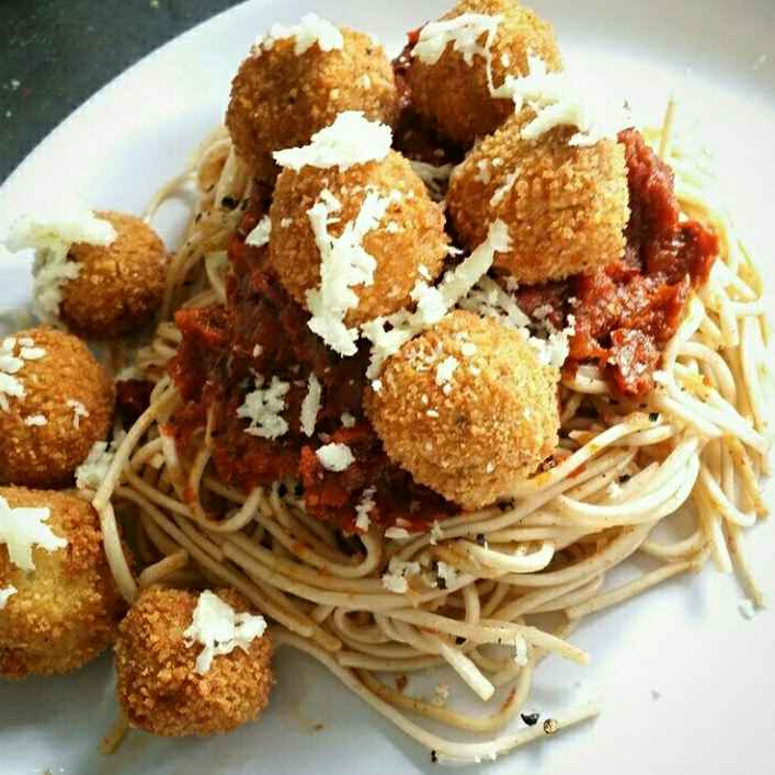 Photo of Chicken meat balls with spaghetti by Sourabh Mehra at BetterButter