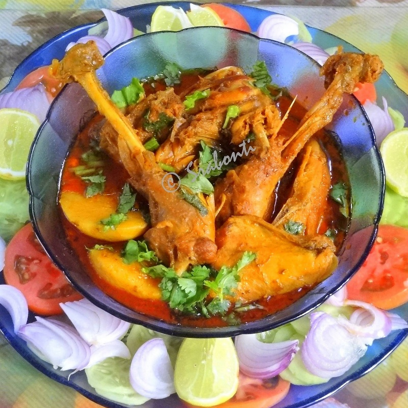 Photo of Deshi Murgir Jhol (Bengali Style Country Chicken Curry) by Srabonti Dutta at BetterButter