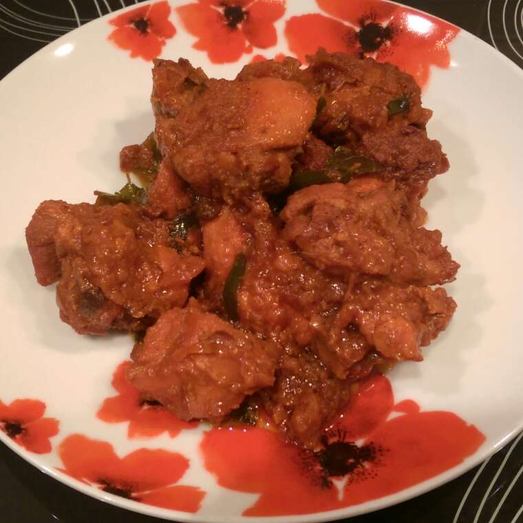 Photo of Kadhai chicken (southern style) by Sreemoyee Bhattacharjee at BetterButter