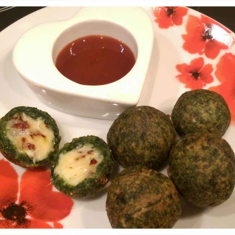 How to make Cheesy spinach balls